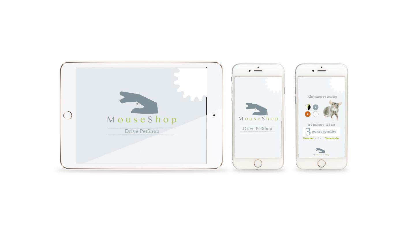 Branding, mouse shop, logo, web design, print, app, idée, ui/ux, marque, communication, Guyane, animalerie, souris, conseil, consultation, appel d'offre,