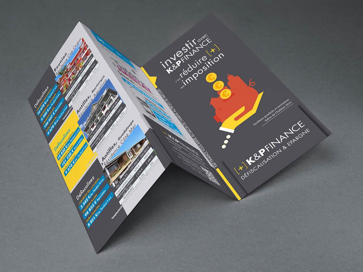 Branding, Affiche, Flyer, print, idée, marque, communication, conseil, consultation, photographie, Illustration, K&P Finance, Change, marketing, Défiscalisation, Lois MACRON, Lois DUFLOTS.