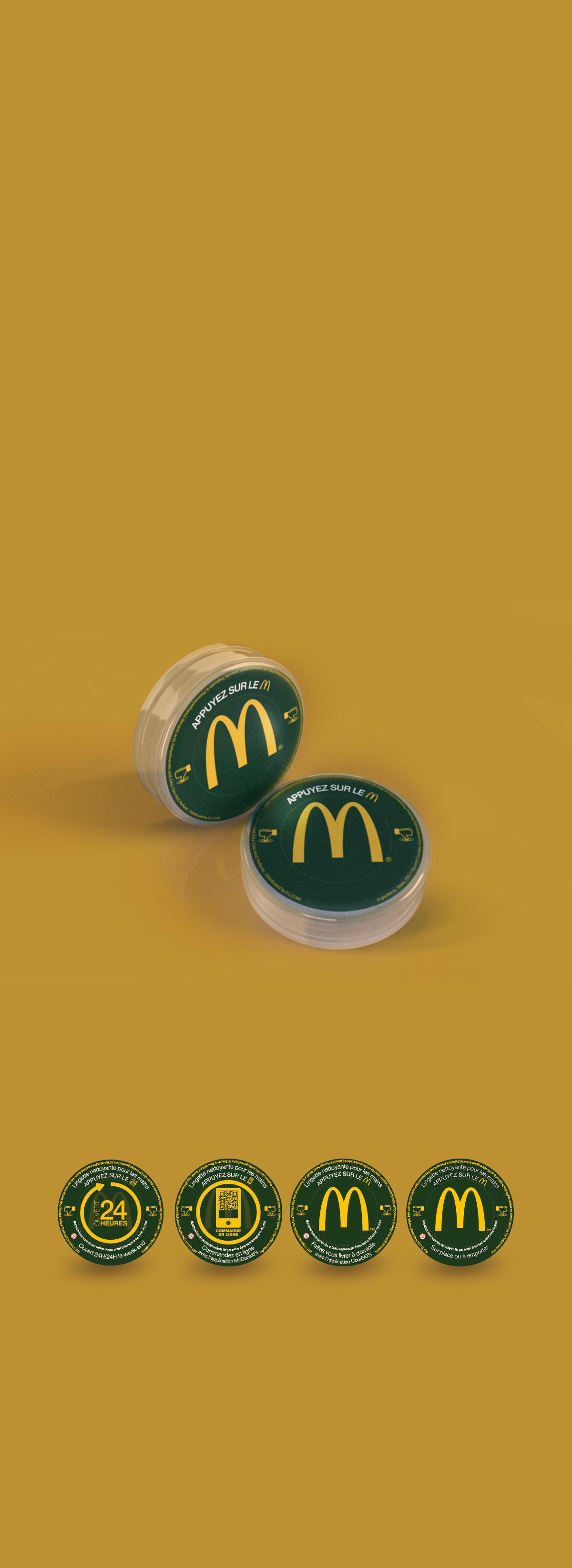 mc Donald's, Lingette, 3d, photo réalisme